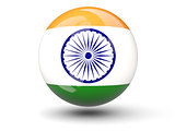Round icon of flag of india