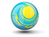 Round icon of flag of kazakhstan