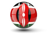 Round icon of flag of kenya