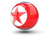 Round icon of flag of north korea