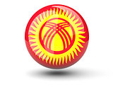 Round icon of flag of kyrgyzstan