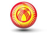 Round icon of flag of kyrgyzstan