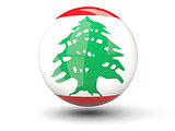 Round icon of flag of lebanon