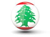 Round icon of flag of lebanon