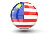 Round icon of flag of malaysia