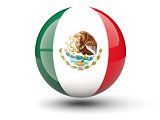 Round icon of flag of mexico