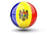 Round icon of flag of moldova
