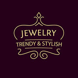 Vector logo for jewelry salon. Luxury and elegance