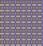 Seamless checkered pattern. Purple and beige