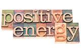positive energy in wood type