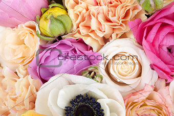 Amazing flower bouquet close up