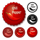 Set chili stamps