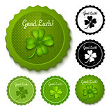 Set clover stamps