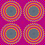 Hypnotic seamless pattern