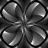 Design monochrome decorative flower background