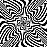 Design monochrome motion illusion background