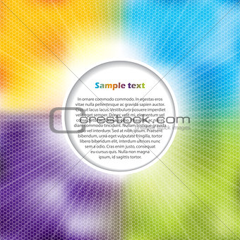 Advertising surface with glowing hexagon background