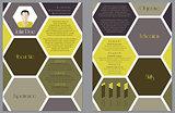 Modern resume design with hexagon theme