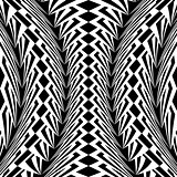 Design warped monochrome vertical pattern