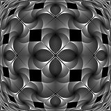 Design monochrome decorative geometric pattern