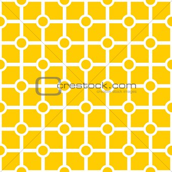 Tile yellow and white vector pattern
