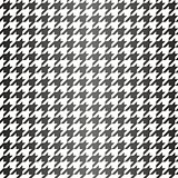 Houndstooth tile black and white pattern or semless vector background