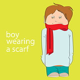 boy wearing a scarf