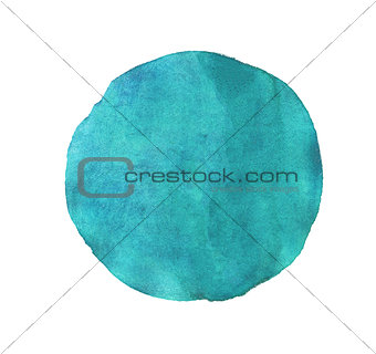 Blue circle watercolor isolated