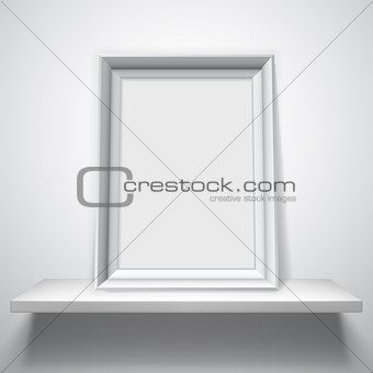 Blank White Picture Frame