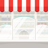 Facade of a Shop Store or Pharmacy Background