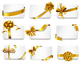 Beautiful cards with gold bows.