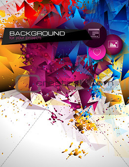 Abstract modern poligonal background for brochure