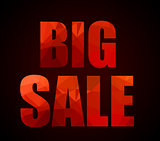 Big Sale promotional slogan with Low Poly letter textures