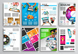 Set of Flyer Design, Infographics. Brochure Designs, Technology Backgrounds