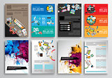 Set of Flyer Design, Web Templates. Brochure Designs, Infographics