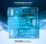 Infographic Layout with Spotlights over an high tech background