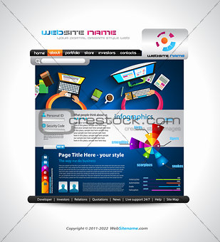 Flat Style Website Template - Elegant Design for Business