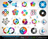 Vector Circular Infographics BIG collection for your graphs