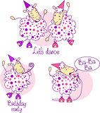 pink dancing sheep