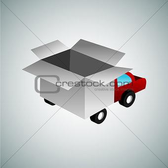 3d Box Truck