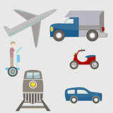 Flat Transportation Icons