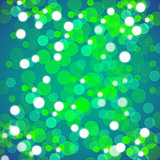Green Blurred Lights Background