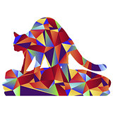 Polygon Cat Kneading Icon