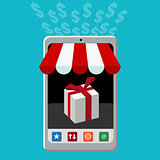 Retail Mobile Purchase Icon