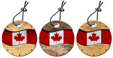 Canada Flags - Set of Wooden Labels
