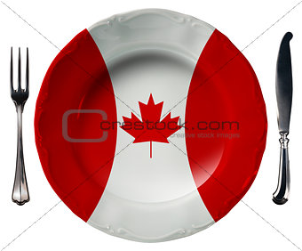 Canadian Cuisine - Plate and Cutlery