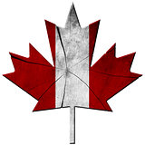 Canadian Flag - Wooden Leaf