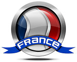 France Flag - Metal Icon