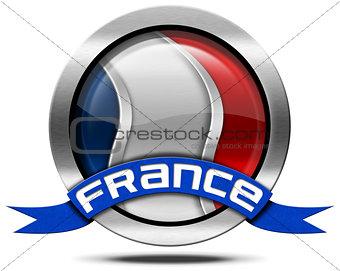 France Flag - Metal Icon