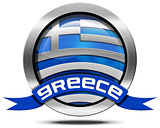 Greece Flag - Metal Icon
